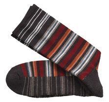 Wool-Blend Variegated Stripe Socks