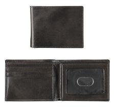 Italian Leather Flip Billfold Wallet