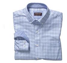 Double Windowpane Button-Down Collar Shirt