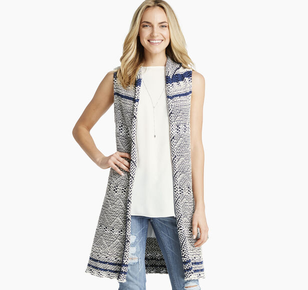 Aztec-Pattern Knit Vest
