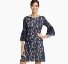 Bell-Sleeve Lace Sheath