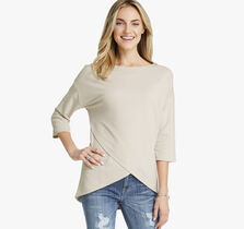 Dolman-Sleeve Knit Top