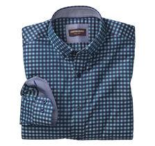 Dark Twill Gingham Button-Down Collar Shirt