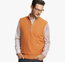Quarter-Zip Sweater Vest