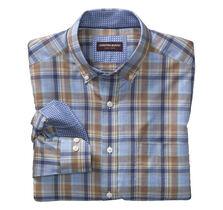 Large Plaid Oxford Button-Down Collar Shirt