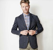 Washed Plaid Blazer