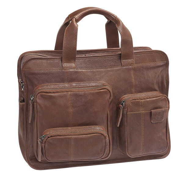 Est. 1850 Leather Zip-Top Briefcase