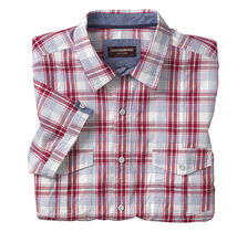 Windowpane Double-Pocket Shirt