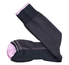 First In Comfort Contrast Tipped Pin Dot Socks