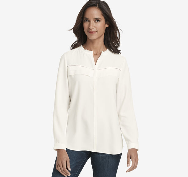 Pleat-Front Shirt