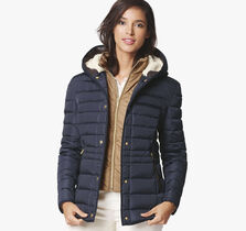 Quilted Down Jacket with Bib