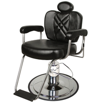 8060S Wallaby Charcoal Charger Barber Chair with Headrest