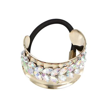 Gold Pony Cuff with Stones