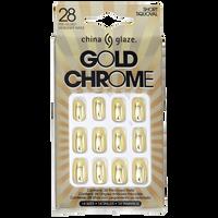 Gold Chrome Press On Nail Tips