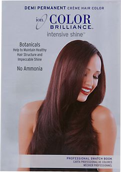 Ion Color Brilliance Demi Hair Color Swatch Book