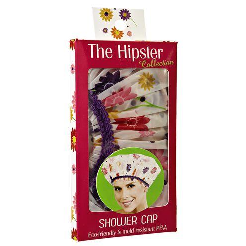Hipster Flower Power Shower Cap
