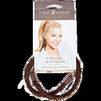 Dark Brown Copper Highlights Fishtail Headband