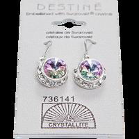 VL Rhinestone Rivoli Dangle Earrings