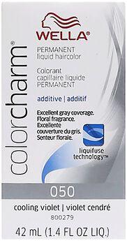 liquid permanent hair color 050 cooling violet - Wella Color Charm