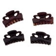 Mini Clips Tortoise and Black 4 Piece