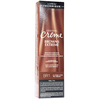 BR1 Dark Red Brown Permanent Creme Hair Color