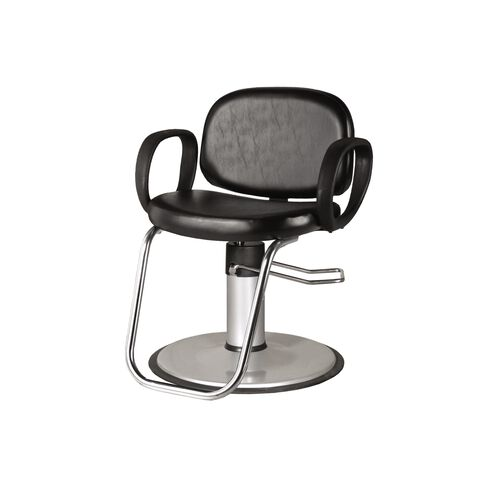K01 Contour Hydraulic Styling Chair with Round Base Black
