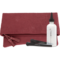 Embossed Beauty Royal Merlot Holiday Clutch