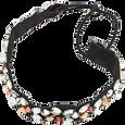 Black Headwrap with Color Stones