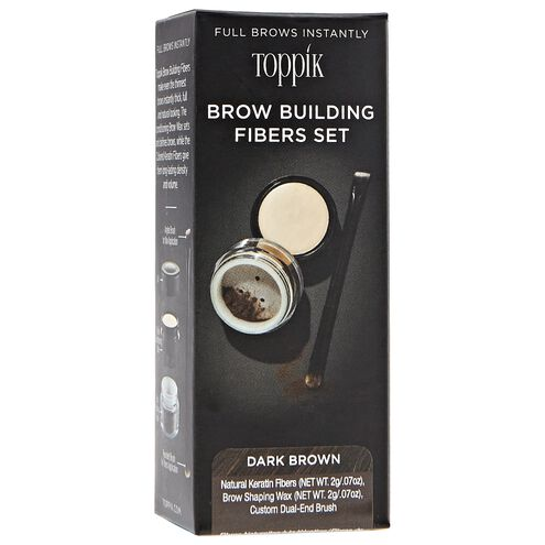 Dark Brown Brow Building Fiber Set