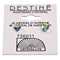 Destine Vitrail Medium Cube Earrings 4mm