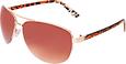 Semi Rimless Leopard Fashion Sunglasses