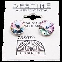 Destine Violet Rivoli Earrings 11mm