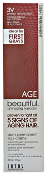 Anti-Aging 3V Darkest Plum Brown Demi Permanent Liqui Creme Hair Color