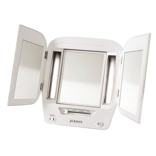 Jerdon Deluxe Lighted Makeup Mirror