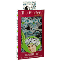 Hipster Hippie Chick Shower Cap