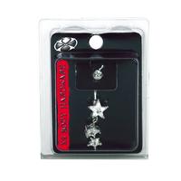 X8 Body Hardware Crystal Stars Navel Dangle