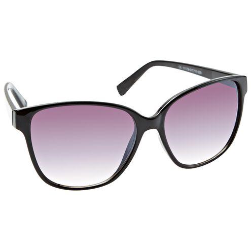 Ladies Fashion Sunglasses Black Opaque with Smoke Lenses
