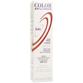 4RV Medium Burgundy Brown Permanent Creme Hair Color