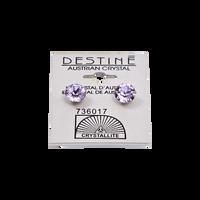 Destine Violet Diamond Cut Earrings 8mm