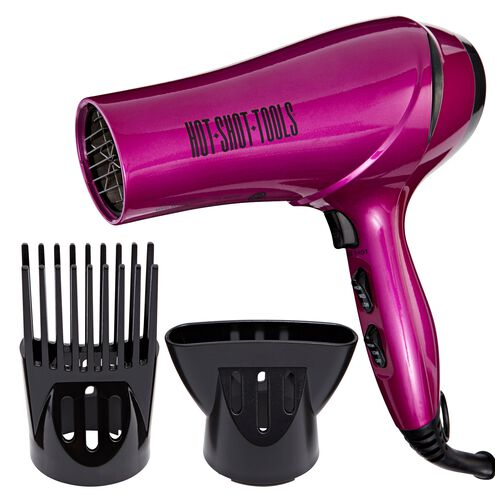 Hot Shot Tools Translucent Hot Pink Hair Dryer