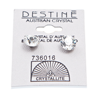 Destine Clear Diamond Cut Earrings 8mm