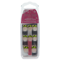 Nude Base Black Tip Neon Polka Dot Press On Nails