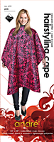 Pink Damask Print Styling Cape
