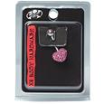 14G Navel Jewelry Rose Multi Stone Heart