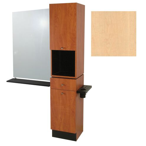 G09 Montego Styling Tower with Mirror Fusion Maple