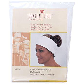Canyon Rose Spa Terry Cloth Headband 3 Inch