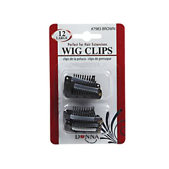 Brown Large Wig Clips