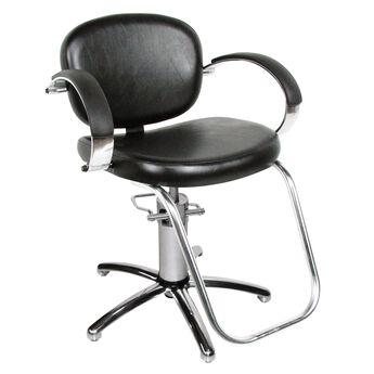 Hydraulic Styling Chair valenti hydraulic styling chair with slim star base - black