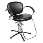 1300S Valenti Hydraulic Styling Chair with Slim Star Base - Black