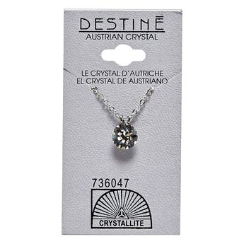 Destine Crystal Diamond Cut Necklace 8mm